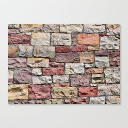 Old castle stone wall Canvas Print