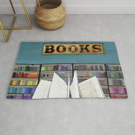 Puzzle Library Books Reader Rug