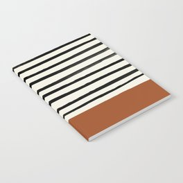 Burnt Orange x Stripes Notebook
