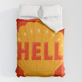 HELL OF A LOGO ! Comforters