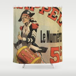 Vintage French revolutionary newspaper ad Shower Curtain