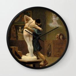 Jean-Leon Gerome - Pygmalion And Galatea - Digital Remastered Edition Wall Clock