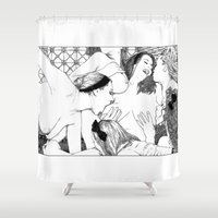 apollonia Shower Curtains featuring asc 521 - Les pamées (The swooning) by From Apollonia with Love
