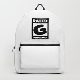 Rated G for gamer Backpack