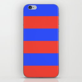 Even Horizontal Stripes, Blue and Red, XL iPhone Skin