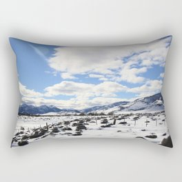 Moon Landscape at Andes Mountain Border Crossing Rectangular Pillow