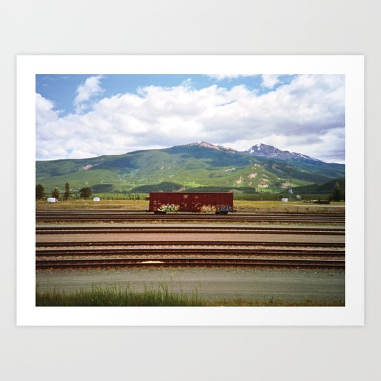 Train Car. Art Print