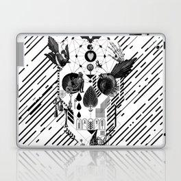 Abstract Skull B&W Laptop & iPad Skin