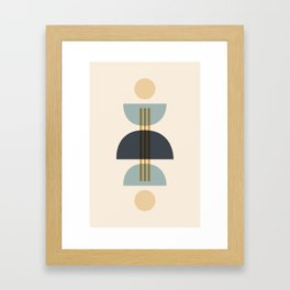 Sapphire Abstract Half Moon 1 Framed Art Print
