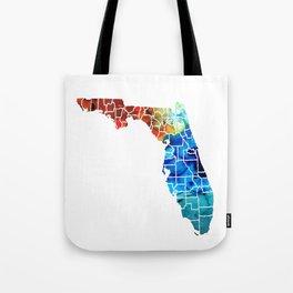 Florida - Map by Counties Sharon Cummings Art Tote Bag