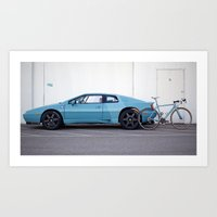 Ritte Lotus Esprit and Ace Art Print