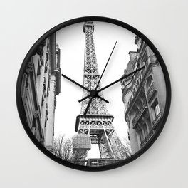 The Eifel tower in Paris Wall Clock