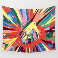 band Wall Tapestries featuring Band Together - Fellowship by viettriet