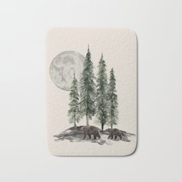 Full Moon Rising Bath Mat