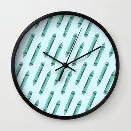 Crayons Wall Clock