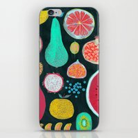 fruit iPhone & iPod Skins featuring Fruit by Mouni Feddag