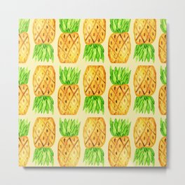 Sweet Pineapples  Metal Print