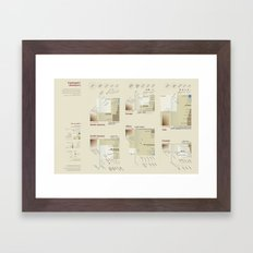 Continents' showdown (Visual Data 07) Framed Art Print