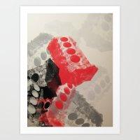 V8 engine block Art Print