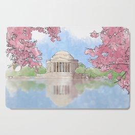 Cherry Blossom - Jefferson Memorial Cutting Board