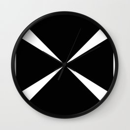 Simple Construction White Wall Clock