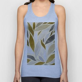 Abstract Watercolour Leaf VI Unisex Tank Top