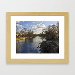 By the river 2-Enhanced Framed Art Print