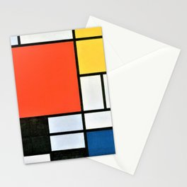 Composition With Red, Yellow, Blue, And Black - Piet Mondrian Stationery Cards