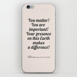 Uplifting quote, fight depression quotes, happiness, be happy again, motivational sentence iPhone Skin