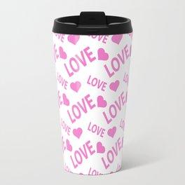 Love Heart Pink Travel Mug