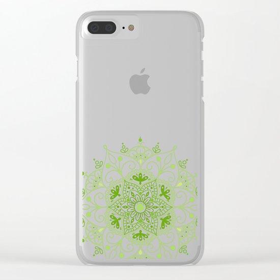 Mandala_Green Clear iPhone Case