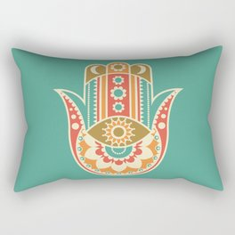 Colorful Hamsa Hand Rectangular Pillow