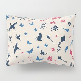 A walk in the park ditsy doodle print Pillow Sham