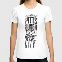 pittsburgh T-shirts featuring Pittsburgh Steelers by Sciulli