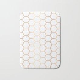 Honeycomb - Rose Gold #372 Bath Mat