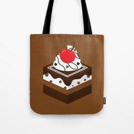 Brown Chocolate Cake Tote Bag