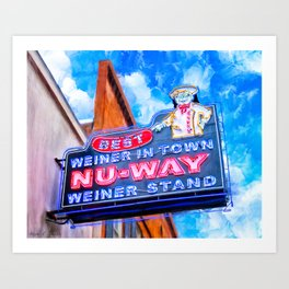 Nu-Way Weiner Stand - Historic Macon Georgia Art Print