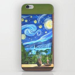 Van Gogh paints the starry night iPhone Skin