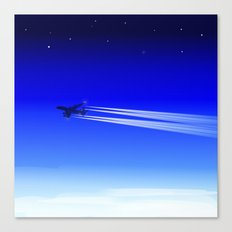 Jet Heading Home Canvas Print