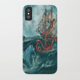 Kraken and the Mermaid iPhone Case