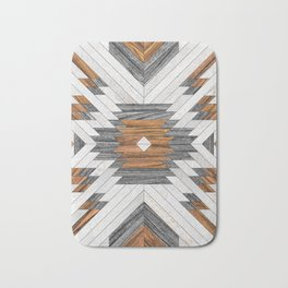 Urban Tribal Pattern 8 - Aztec - Wood Bath Mat
