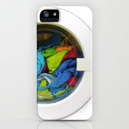washing machine iPhone Case