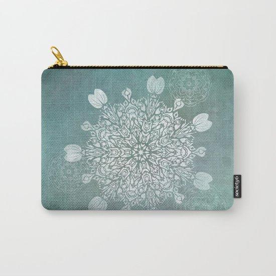 Turquoise Batik Mandala Float Carry-All Pouch