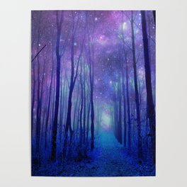 Fantasy Path Purple Blue Poster