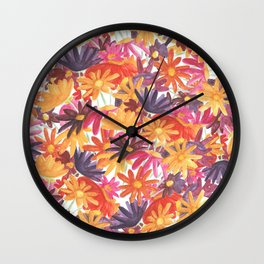 Sunset Flower Wall Clock