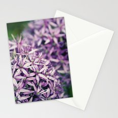 Vintage Purple Poppies  Stationery Cards