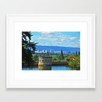 portlandia Framed Art Prints featuring Portlandia by Keianh