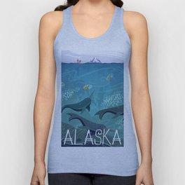 Alaska State Poster Unisex Tank Top