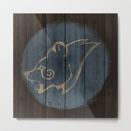 Bear Shield Metal Print