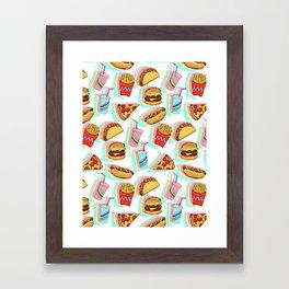 Rainbow Fast Food Framed Art Print